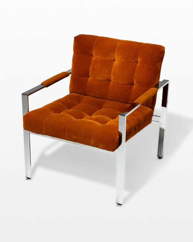 Front view of Milo Rust Lounge Chair