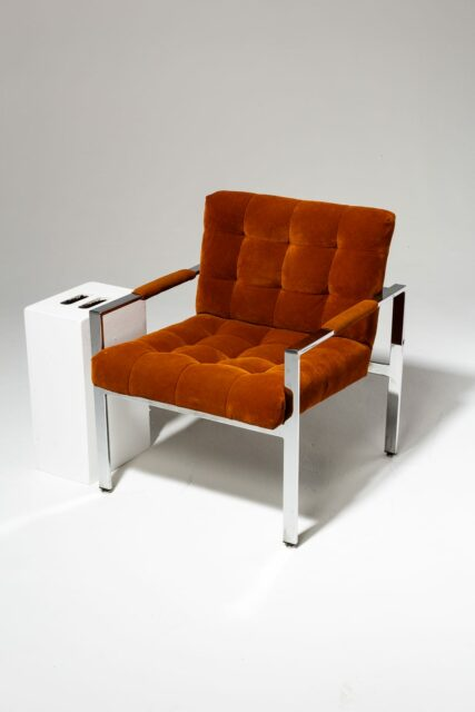 Alternate view 1 of Milo Rust Lounge Chair