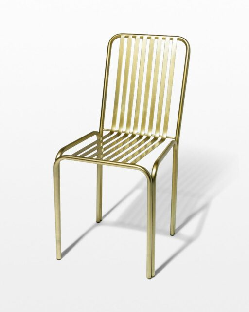 Front view of Cook Brass Chair