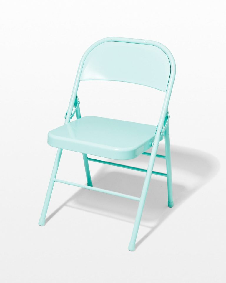 Front view of Teal Folding Chair
