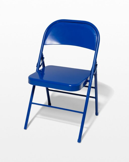 Front view of Cobalt Folding Chair