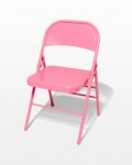 Front view thumbnail of Pink Folding Chair