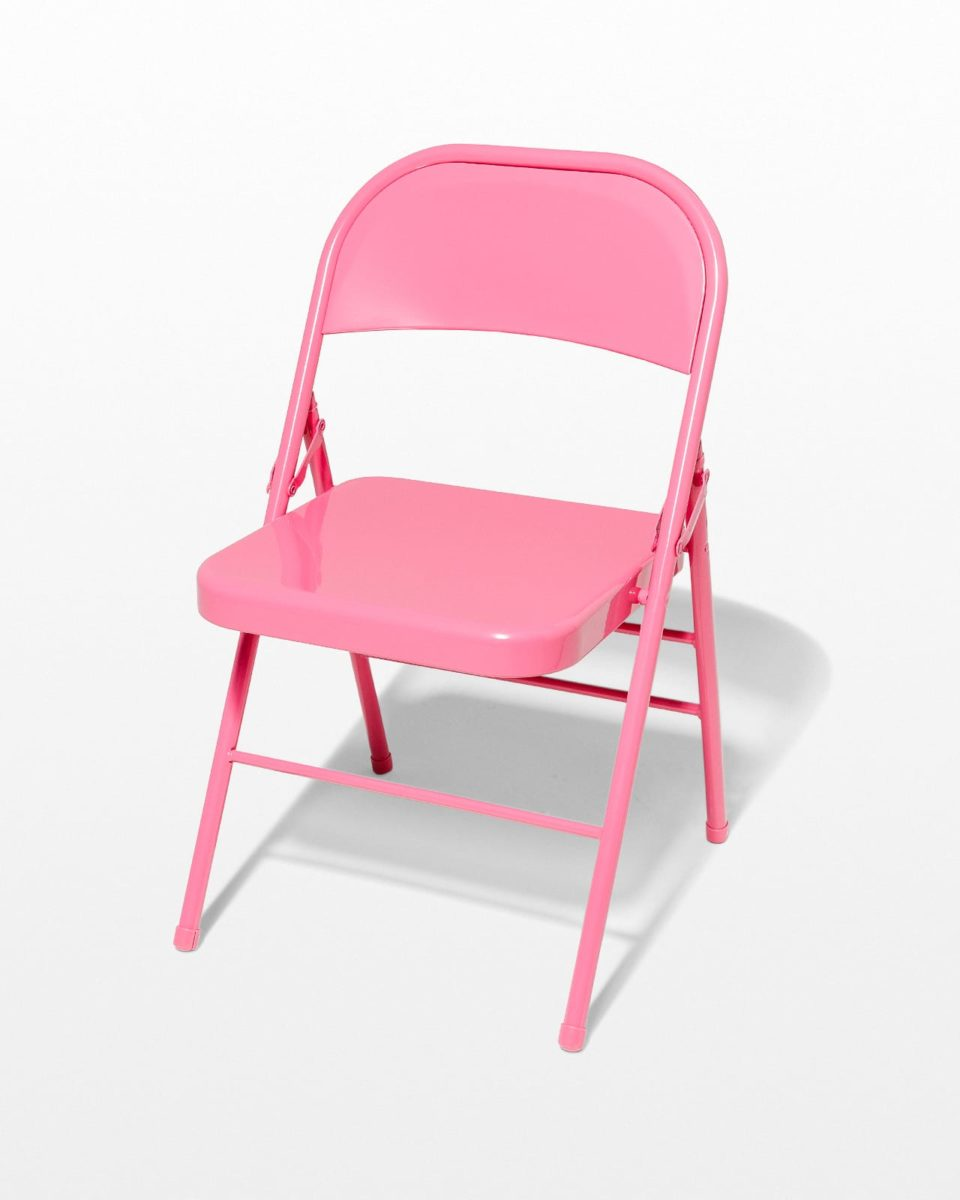 Front view of Pink Folding Chair