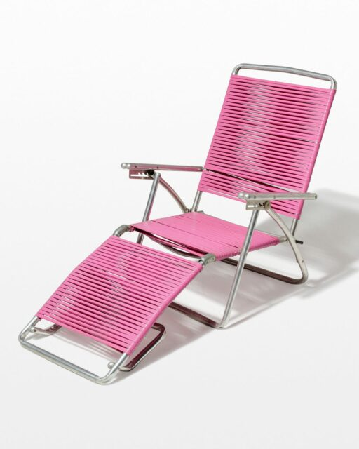 Front view of Victoria Pink Beach Lounge Chair