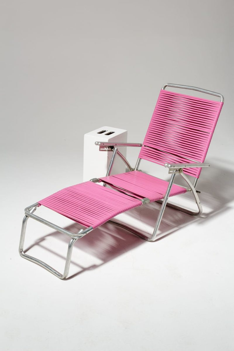 Alternate view 1 of Victoria Pink Beach Lounge Chair