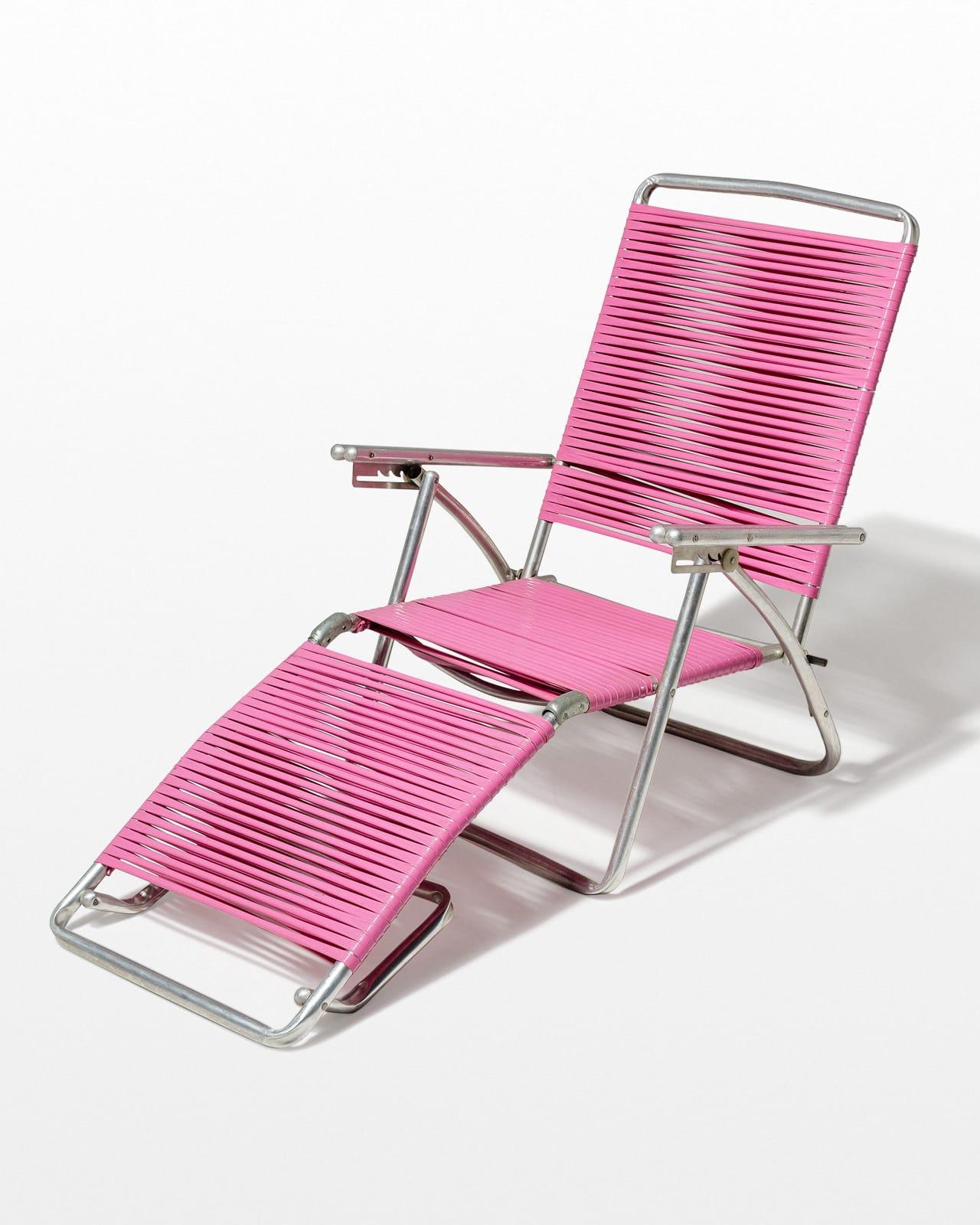 Ch446 Victoria Pink Beach Lounge Chair Prop Rental Acme Brooklyn