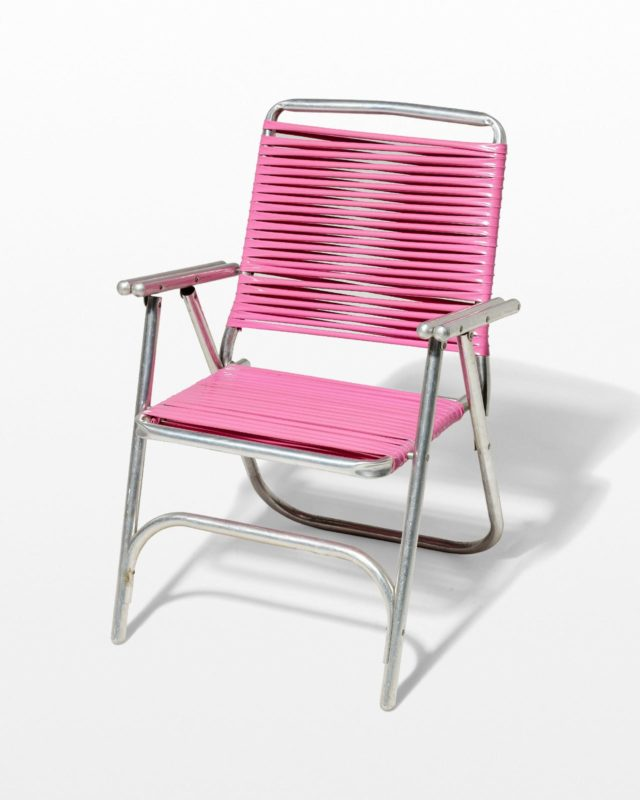 Front view of Victoria Pink Beach Chair