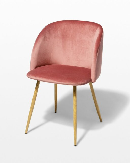 Front view of Coral Velvet Chair