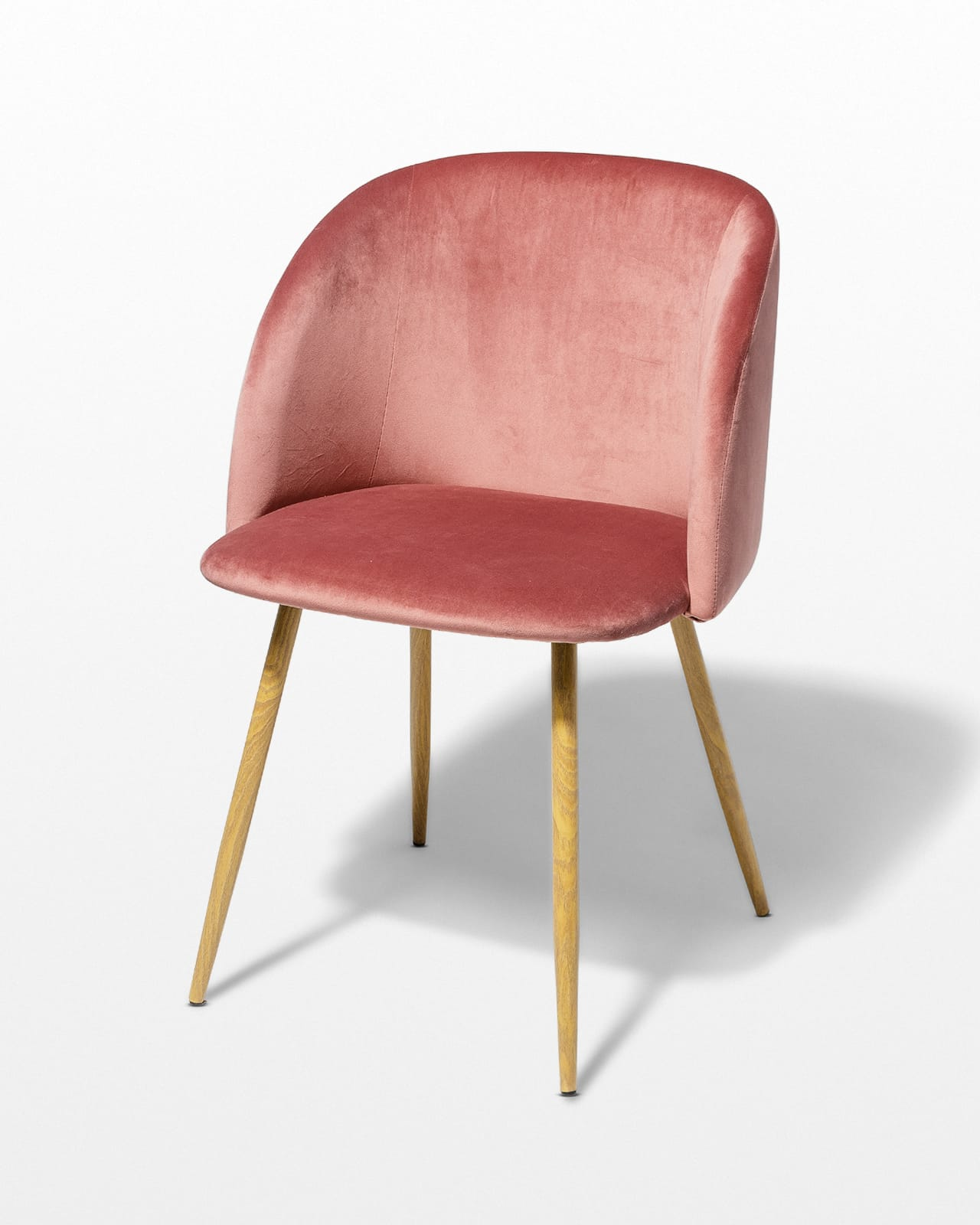Ch458 Coral Velvet Chair Prop Rental Acme Brooklyn