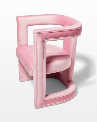 Front view of Effie Pink Velvet Chair