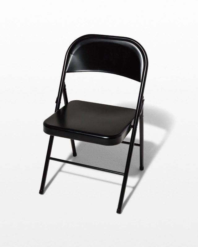 Front view of Ink Black Folding Chair