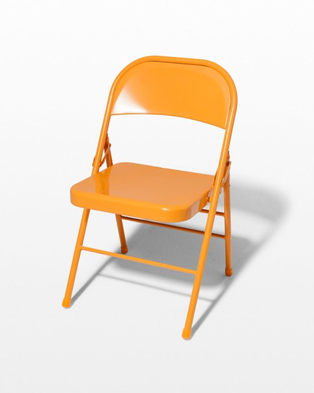 Front view of Tangerine Folding Chair