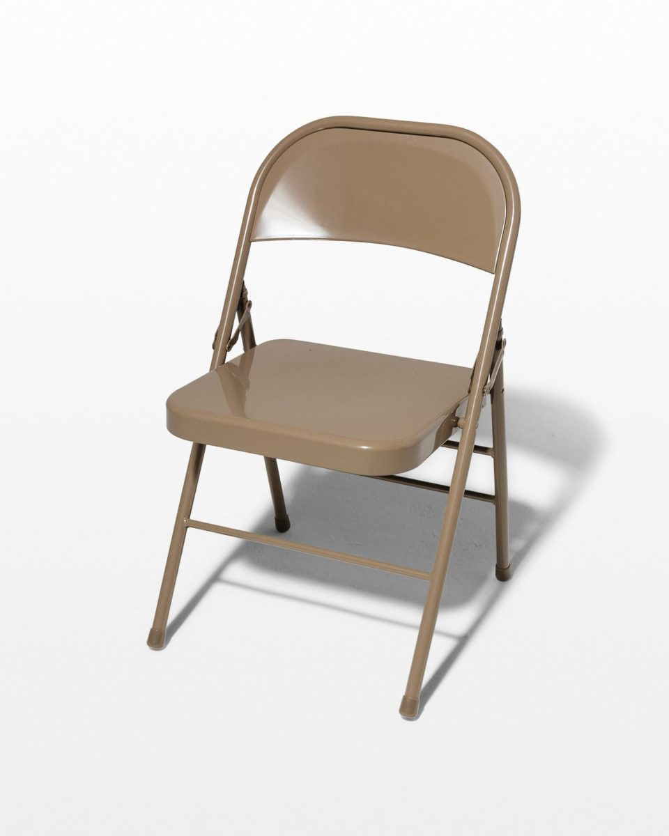 Front view of Slate Grey Folding Chair