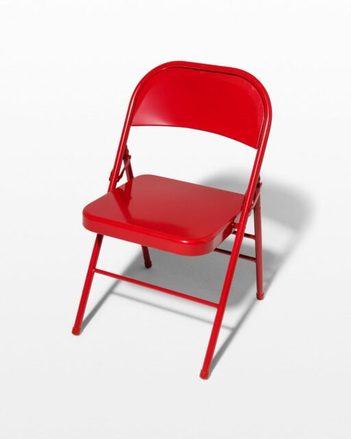 Front view of Ruby Red Folding Chair
