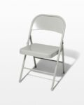 Front view thumbnail of Light Smoke Grey Folding Chair