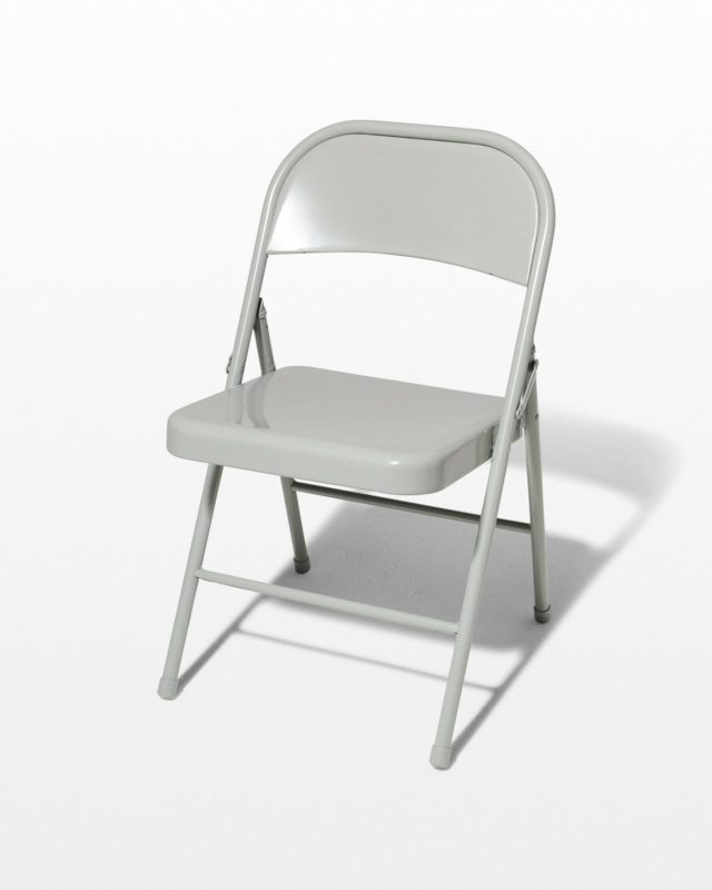 Front view of Light Smoke Grey Folding Chair