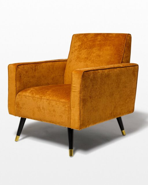 Front view of Cody Rust Orange Arm Chair