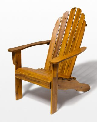 Front view of Province Natural Wood Adirondack Chair