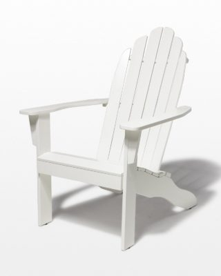 Front view of Newport White Adirondack Chair