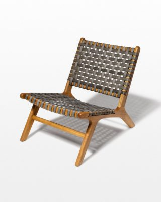 Front view of Marina Grey Strap Lounge Chair