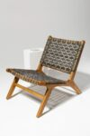 Alternate view thumbnail 1 of Marina Grey Strap Lounge Chair