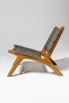 Alternate view thumbnail 2 of Marina Grey Strap Lounge Chair