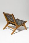 Alternate view thumbnail 3 of Marina Grey Strap Lounge Chair
