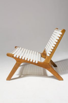 Alternate view 2 of Reide White Strap Lounge Chair