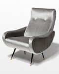 Front view thumbnail of Trevi Grey Velvet Armchair