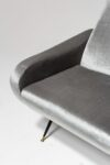 Alternate view thumbnail 5 of Trevi Grey Velvet Armchair