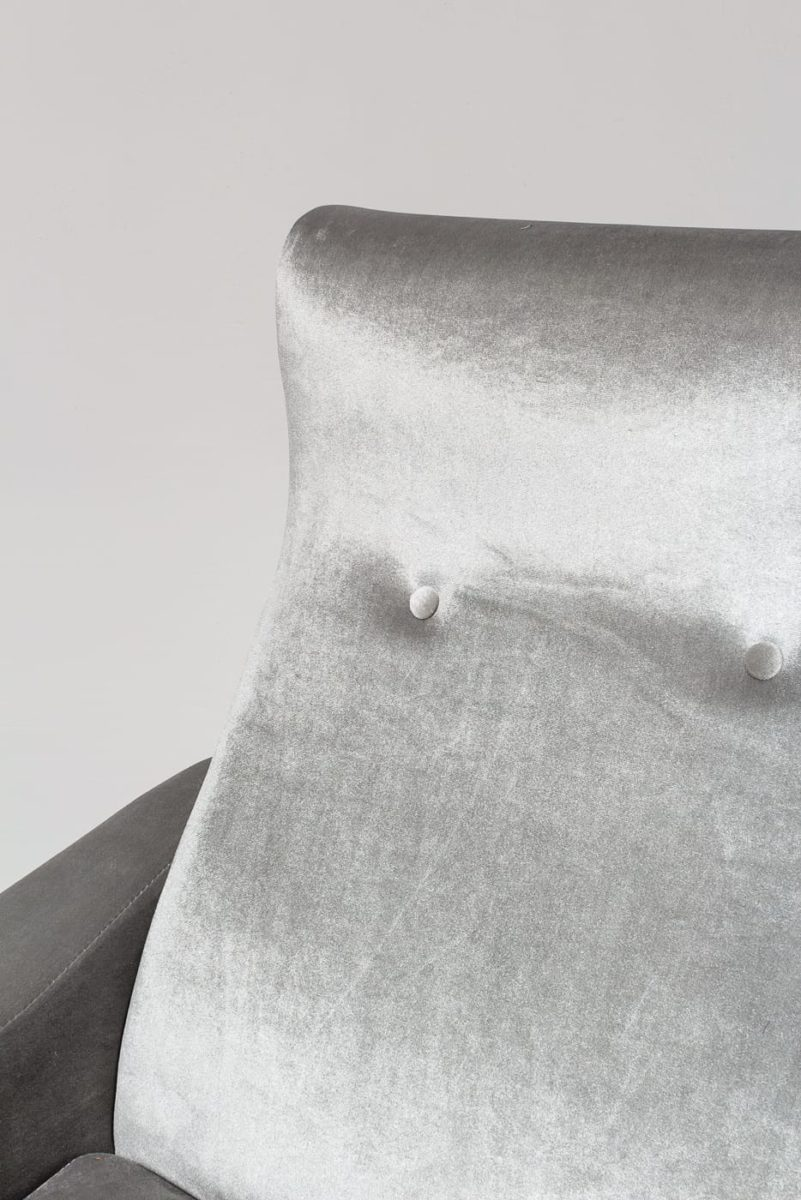 Alternate view 2 of Trevi Grey Velvet Armchair