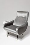 Alternate view thumbnail 1 of Trevi Grey Velvet Armchair