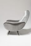 Alternate view thumbnail 3 of Trevi Grey Velvet Armchair