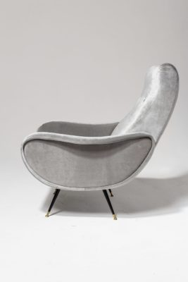 Alternate view 3 of Trevi Grey Velvet Armchair