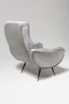 Alternate view thumbnail 4 of Trevi Grey Velvet Armchair