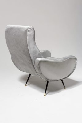 Alternate view 4 of Trevi Grey Velvet Armchair