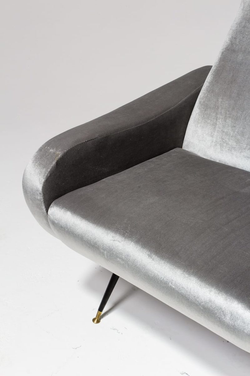 Alternate view 5 of Trevi Grey Velvet Armchair