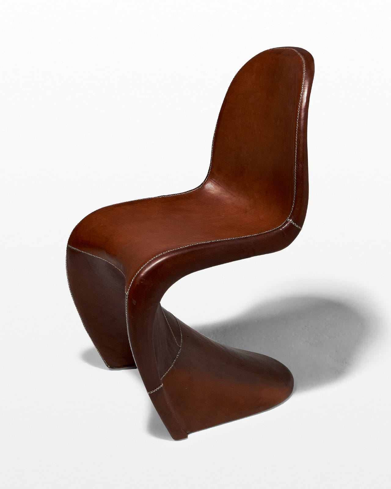 CH488 Yogi Leather Scoop Chair