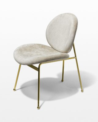 Front view of Natalie Light Velvet Chair