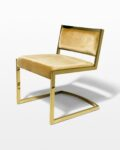 Front view thumbnail of Robert Gold and Velvet Chair