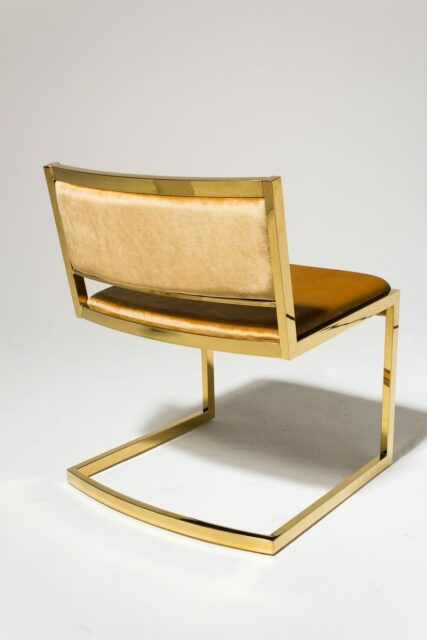 Alternate view 2 of Robert Gold and Velvet Chair