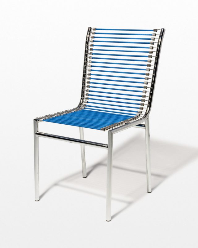 Front view of Sandow Chrome and Cord Chair