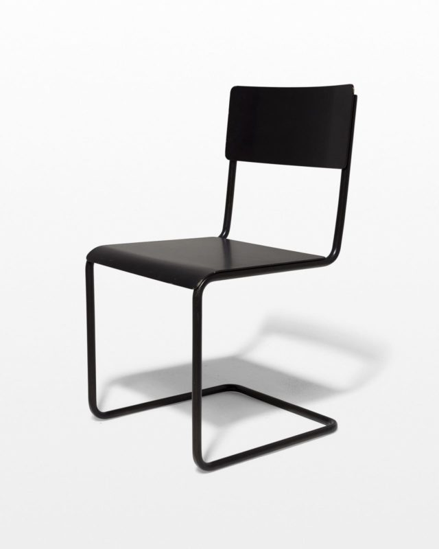 Front view of Pari Steel Cantilever Chair