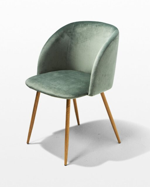 Front view of Lana Green Velvet Chair