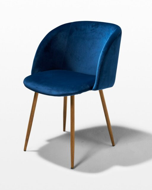Front view of Satellite Blue Velvet Chair