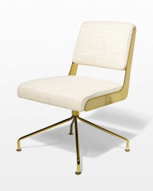 Front view of Gaby Gold Swivel Chair