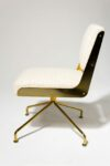 Alternate view thumbnail 3 of Gaby Gold Swivel Chair
