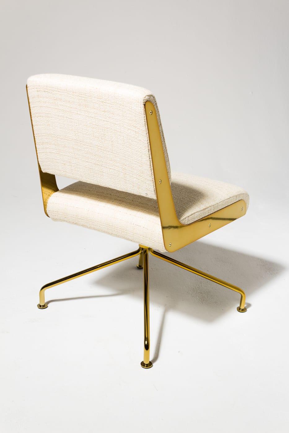 Ch501 Gaby Gold Swivel Chair Prop Rental Acme Brooklyn