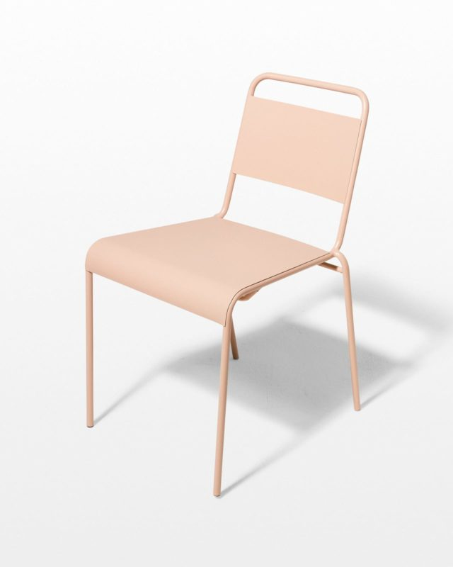 Front view of Blush Pink Metal Chair