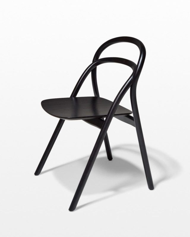 Front view of Lorne Black Chair